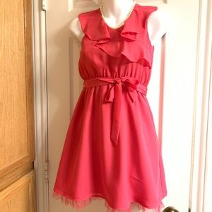 Hot Pink Girls Dress